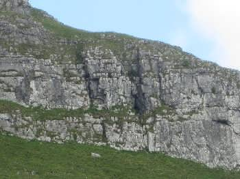 Attermire Cave, near Settle, viewed from afar
