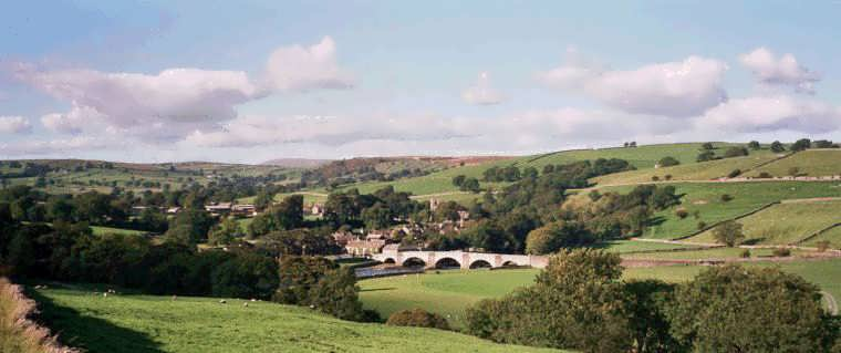Burnsall in Wharfedale in the Yorkshire Dales