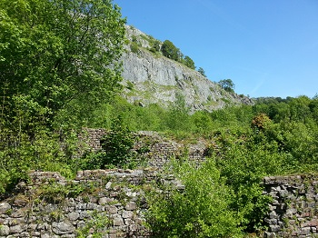 The disused Craven Lime Works, near the foot of Langcliffe Scar