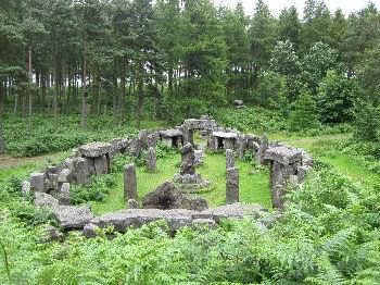 The Druids' Temple, near Masham in Wensleydale, in the Yorkshire Dales