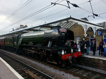 The Flying Scotsman in Skipton