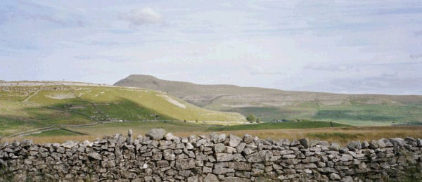 Ingleborough and White Scars, viewed from Kingsdale