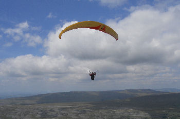Paragliding in the Yorkshire Dales