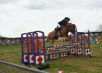 Showjumping at a Yorkshire agricultural show