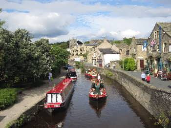 The Leeds Liverpool Canal in Skipton