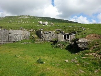 Derelict buildings near entrance to Skirwith Cave