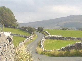 Drystone walled lane near Winterburn in the Yorkshire Dales