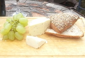 Wensleydale cheese on platter
