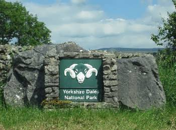 Yorkshire Dales National Park signpost